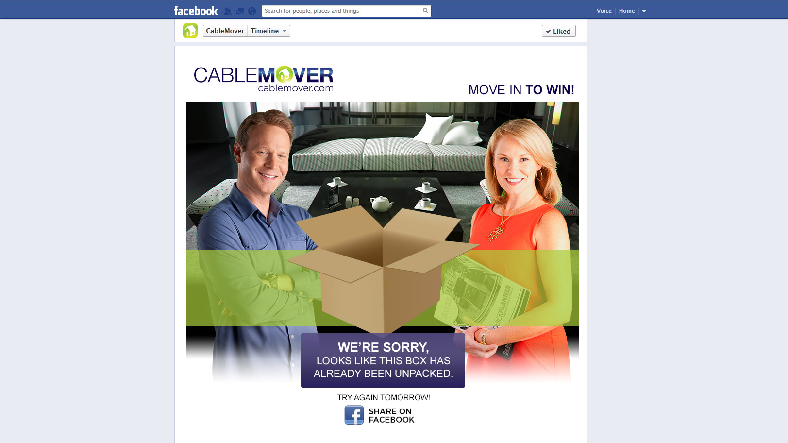 Cable Mover Move in to Win Sweepstakes